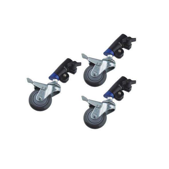 Locking Caster set for Light Stand of 30 mm Diameter WCS-02