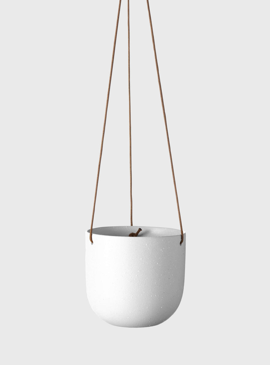 Cade Hanging Pot Small Soft White Folia House