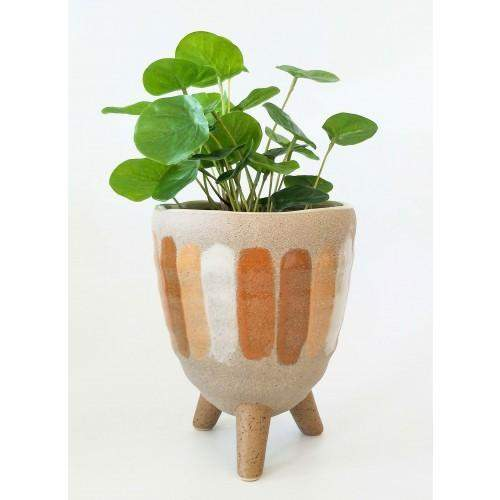 Citrus Planter on legs Sand Orange 18x14x14cm Folia House