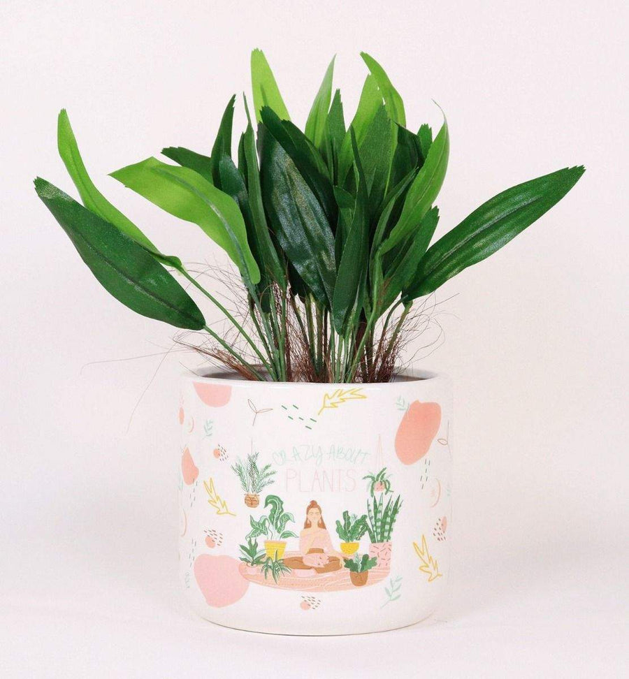 Crazy about Plants Planter Green & Brown Folia House