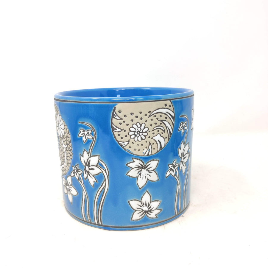 Suki Cylinder Pot Blue