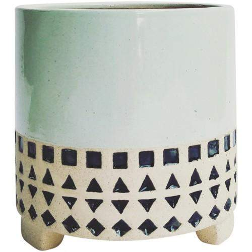 Kyra Planter with Legs Navy 15x15x15cm Folia House