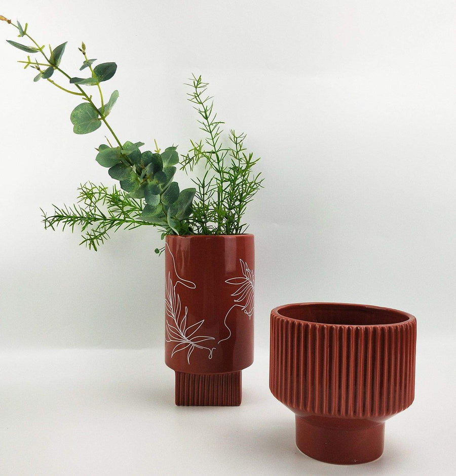 Nova Planter Terracotta Folia House
