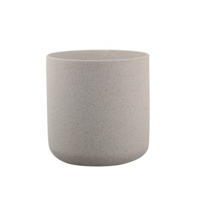 Thin rim sand finish ceramic pot - Grey Folia House