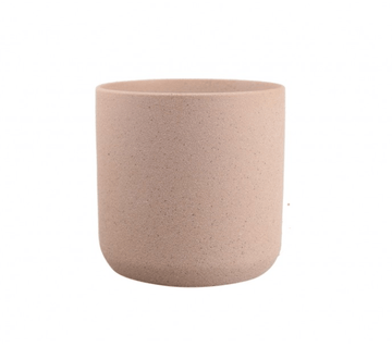 Thin rim sand finish ceramic pot - Pink Folia House