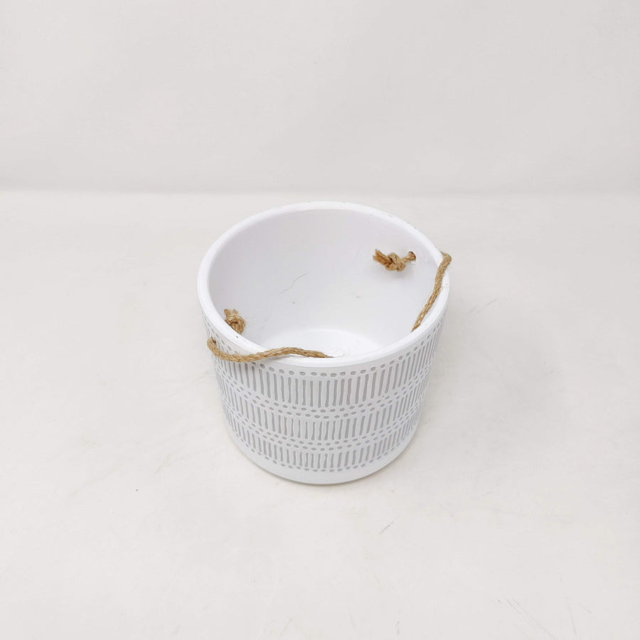 Tully Hanging Planter Pot White Folia House