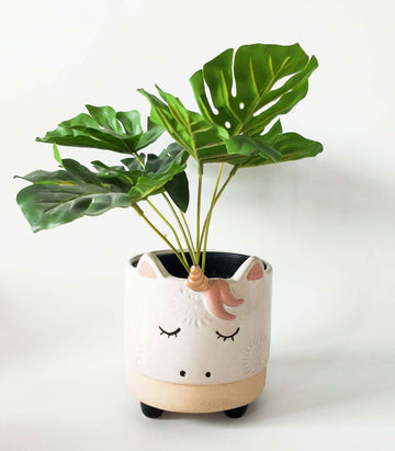Unicorn Planter White Sand Sm Folia House