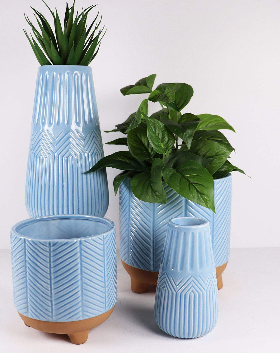 Zari Planter Dusty Blue Folia House