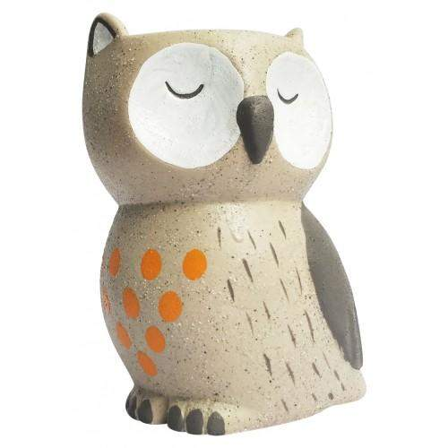 Little Owl Planter Biege 9x14cm