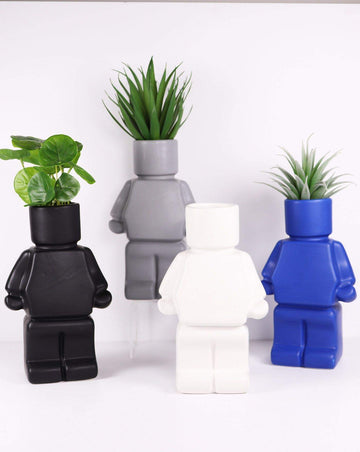 Block Man Planter