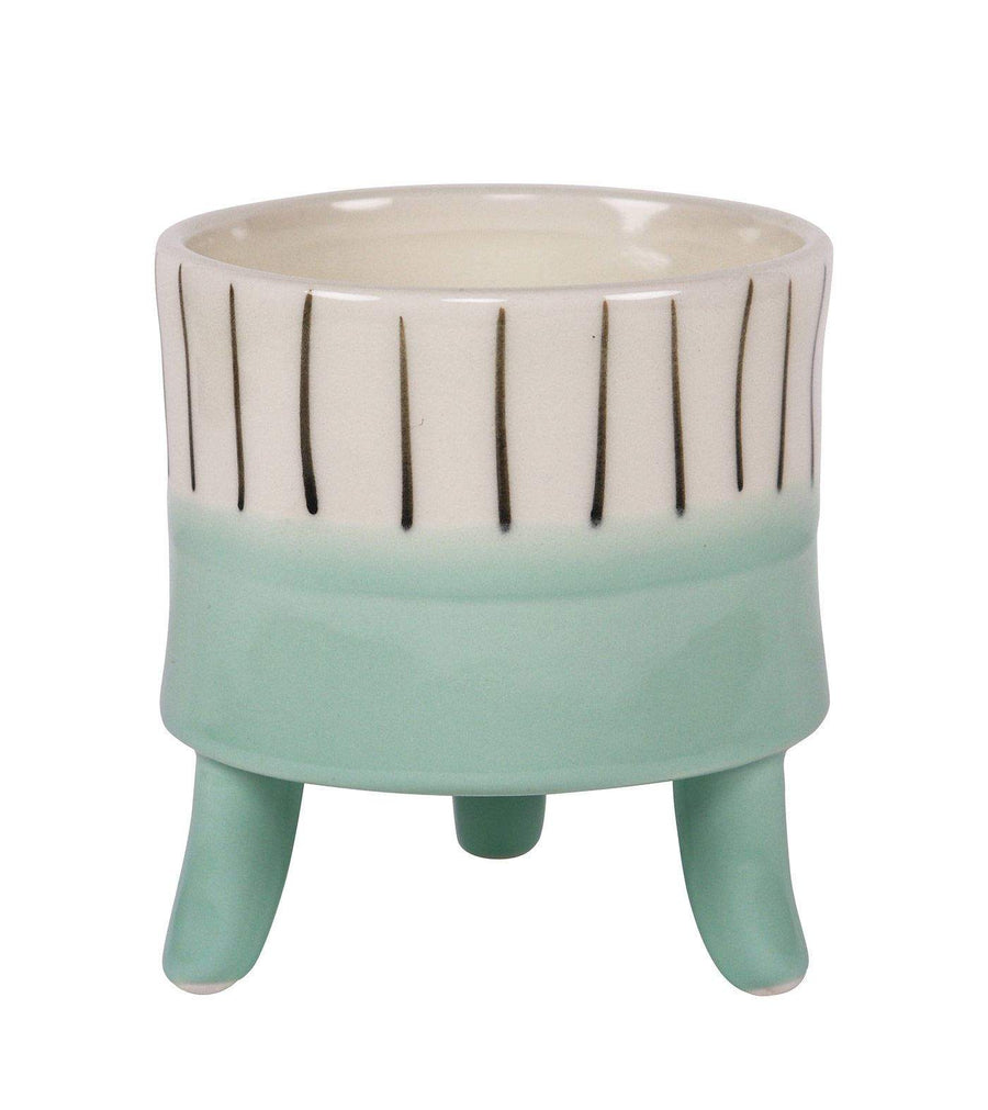 Lilah Planter with Legs Blue Sm