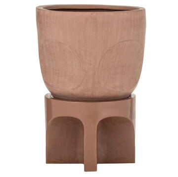 Oliver Planter Pot on Stand Terracotta