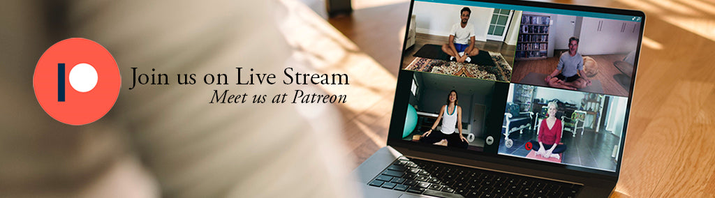 Image banner - Join us Live on Patreon