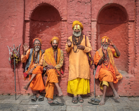 Image of holy men in Nepal