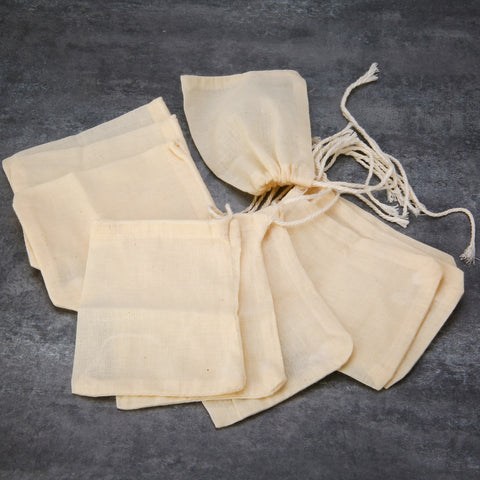 Cotton Teabags Empty Tea Bags with Drawstring