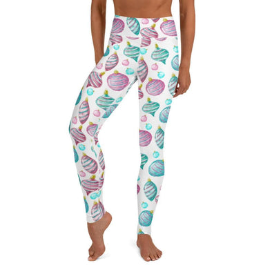 Audrey & Irene  Christmas XS Christmas Ornaments Holiday Pastel Yoga Pants Leggings