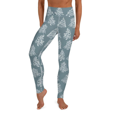 Audrey & Irene  Christmas XS Christmas Trees Yoga Pants Leggings