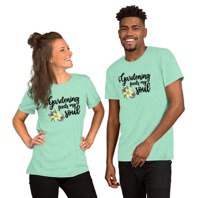 Audrey & Irene  Heather Mint / S Short-Sleeve Unisex T-Shirt