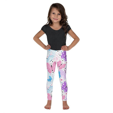 Audrey & Irene  Kids Leggings 2T Pink Blue Pastel Butterflies Kid's Leggings