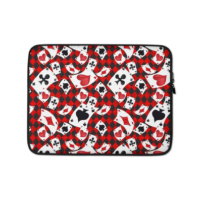 Audrey & Irene  Laptop 13 in Alice in Wonderland Playing Cards Laptop Sleeve