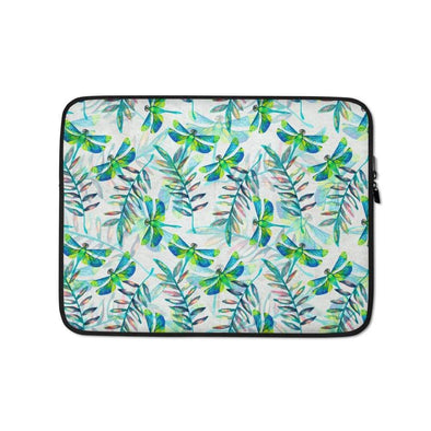 Audrey & Irene  Laptop 13 in Dragonflies Abstract Laptop Sleeve