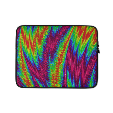 Audrey & Irene  Laptop 13 in High Voltage Abstract Laptop Sleeve