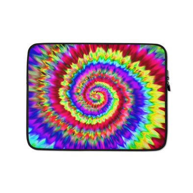 Audrey & Irene  Laptop 13 in Rainbow Tie Dye Laptop Sleeve