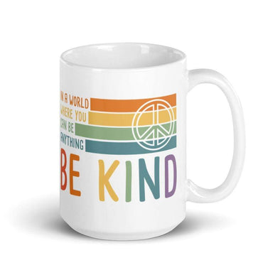 Audrey & Irene  Mugs Be Kind Peace Flag Mug