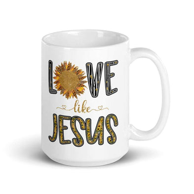 Audrey & Irene  Mugs Love Like Jesus 15 oz Mug
