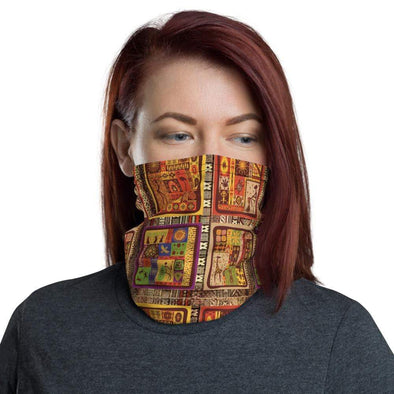 Audrey & Irene  Neck Gaiters African Print Wildlife Neck Gaiter Scarf Face Shield Dust Shield Breathable Reusable