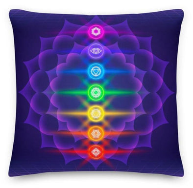 Audrey & Irene  Pillow 18×18 7 Chakras Decorative Premium Throw Pillows