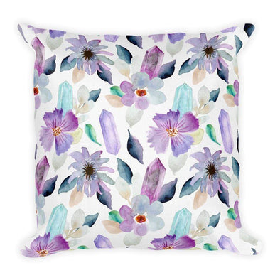 Audrey & Irene  Pillow 18×18 Flowers & Crystals Premium Pillow