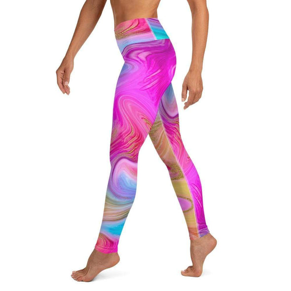 Audrey & Irene  Rainbow Marble Yoga Leggings