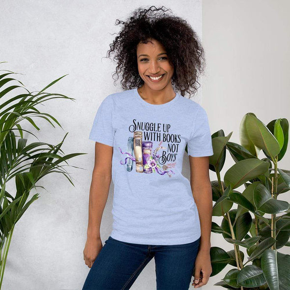 Audrey & Irene  Snuggle With Books Not Boys Short-Sleeve Unisex T-Shirt