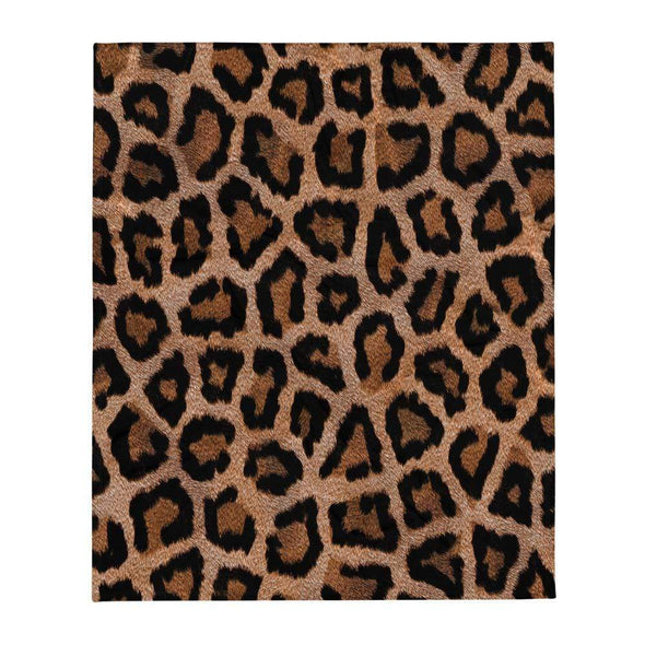 Audrey & Irene  Throw Leopard Print Wildlife Throw Blanket