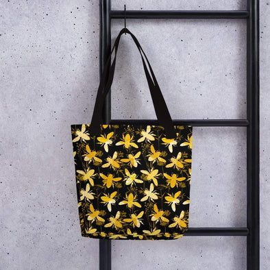 Audrey & Irene  Totes Black Gold Bees Tote bag