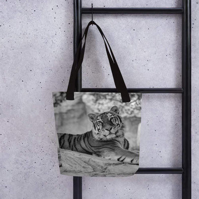 Audrey & Irene  Totes Black Tiger Tote bag