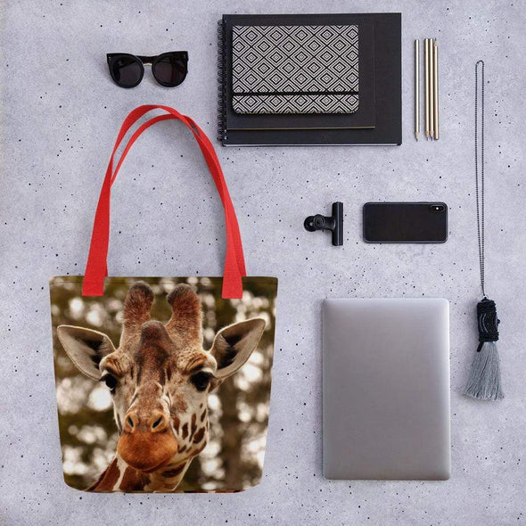 Audrey & Irene  Totes Red Giraffe Tote bag