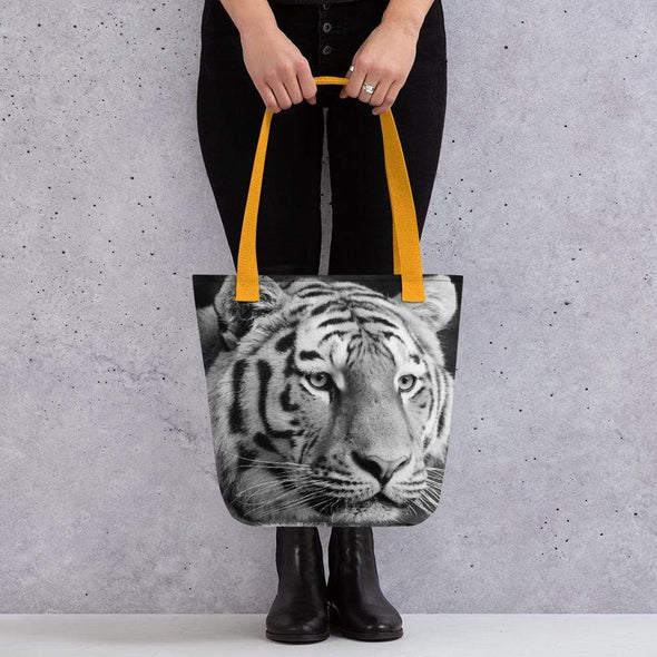 Audrey & Irene  Totes Yellow Tiger Tote bag