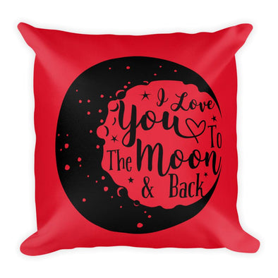 Audrey & Irene  Valentine's Day Moon Decorative Throw Pillow Love You To The Moon & Back