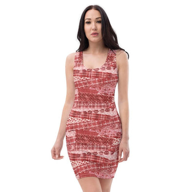 Audrey & Irene  Valentine's Day XS Love Red Valentine Bodycon Fitted Party Dress