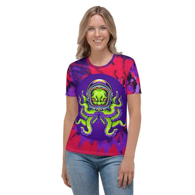 Audrey & Irene  XS Release The Kraken Octopus Alien Women's AOP T-shirt