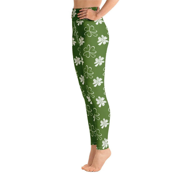Audrey & Irene  Yoga Leggings St Patrick's Day Yoga Pants Leggings Shamrocks