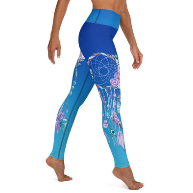Audrey & Irene  Yoga Leggings XS Dream Catcher Blue Ombre Yoga Pants Leggings
