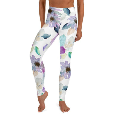 Audrey & Irene  Yoga Leggings XS Flowers & Crystals Yoga Leggings