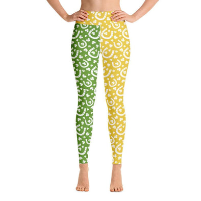 Audrey & Irene  Yoga Leggings XS St Patrick's Day Yoga Pants Leggings Horseshoes Green & Gold