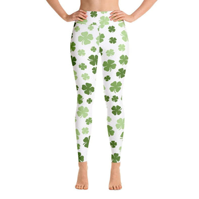 Audrey & Irene  Yoga Leggings XS St Patrick's Day Yoga Pants Leggings Shamrocks