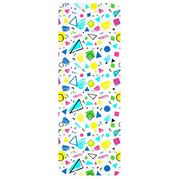 Audrey & Irene  Yoga Mat 68x24 inch 80's Party Retro Yoga Mats
