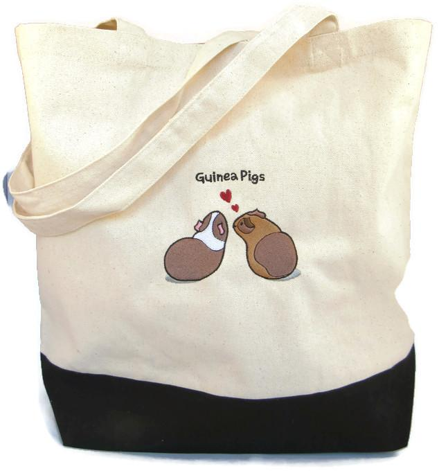 WheekyⓇ Pets Guinea Pig Embroidered Tote Bag - Wheeky Pets, LLC (Green Oak Technology Group)