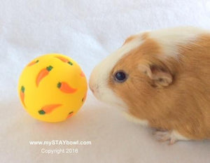 WheekyⓇ Treat Ball for Guinea Pigs, Rabbits, Hedgehogs and Small Pets - Wheeky Pets, LLC (Green Oak Technology Group)